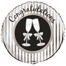 "Congratulations Champagne Glasses 18"" Foil 