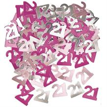Pink Glitz Party 21st Birthday Table Confetti | Decoration