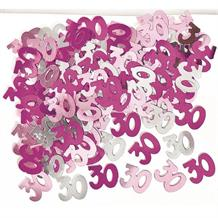Pink Glitz Party 30th Birthday Table Confetti | Decoration