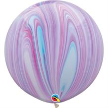 "Fashion Pastel Colours SuperAgate Marble 30"" Qualatex Decorator Latex Party Balloons"