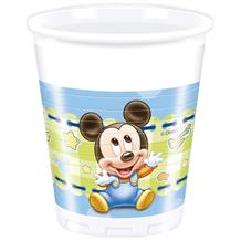 Baby Mickey Mouse Gingham Party Cups