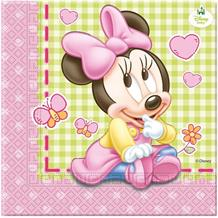 Baby Minnie Mouse Gingham Party Napkins | Serviettes