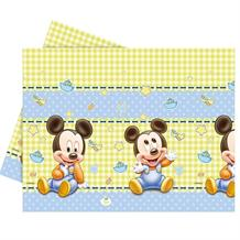 Baby Mickey Mouse Gingham Party Tablecover | Tablecloth