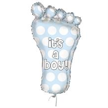 It's a Boy Footprint | Baby Shower Shaped Giant Foil | Helium Balloon