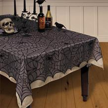 Lace Spider Web | Halloween Party Tablecover | Tablecloth