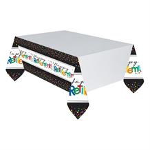 Happy Retirement Confetti Dots Party Tablecover | Tablecloth