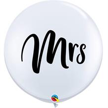 Mrs | Wedding 3ft Qualatex Helium Quality Decorator Latex Party Balloons