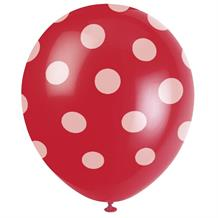 Red Polka Dot Party Latex Balloons