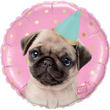 "Party Pug 18"" Foil 