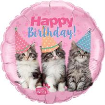 "Kittens Happy Birthday 18"" Foil 