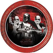 Star Wars Ep8 Metallic Party Plates