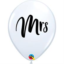 "Mrs | Wedding 11"" Qualatex Latex Party Balloons"