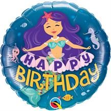 "Mermaid Happy Birthday 18"" Foil 
