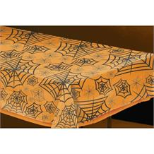 Orange Spiderweb Party Tablecover | Tablecloth
