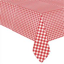 Red and White Gingham Style Picnic Party Tablecover | Tablecloth