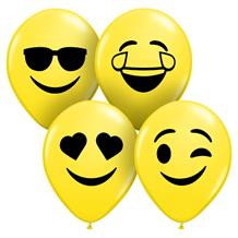 "Smiley Faces Assortment 5"" Qualatex Latex Party Balloons"