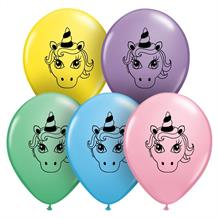 "Unicorn | Pastel Colours 5"" Qualatex Latex Party Balloons"