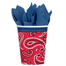 Western Bandana & Jeans Party Cups