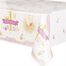 Pink and Gold Girls 1st Birthday Party Tablecover | Tablecloth