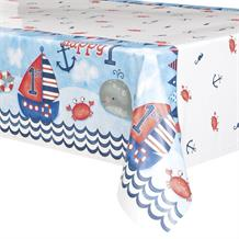 Nautical Boys 1st Birthday Party Tablecover | Tablecloth