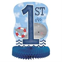 Nautical Boys 1st Birthday Party Honeycomb Table Centrepiece | Decoration