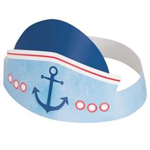 Nautical Boys 1st Birthday Party Favour Hats