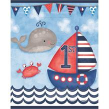 Nautical Boys 1st Birthday Party Loot Bags