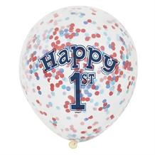 Nautical Boys 1st Birthday Party Confetti Latex Balloons | Decorations