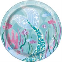 Mermaid Round 17cm Party Dessert | Cake Plate