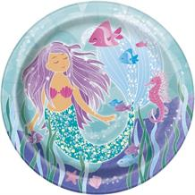 Mermaid Round 22cm Party Plates