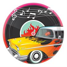 1950's Rock & Roll Party Plates