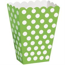 Lime Green Polka Dot Party Treat Boxes