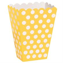 Sunflower Yellow Polka Dot Party Treat Boxes
