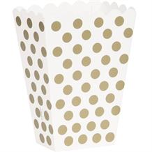 Gold Polka Dot Party Treat Boxes