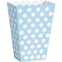 Baby Blue Polka Dot Party Treat Boxes