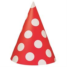 Red Polka Dot Party Party Favour Hats