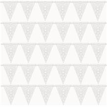 White Lace Wedding Flag Banner | Bunting | Decoration