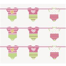 Pink Dots Baby Shower Paper Banner | Decoration