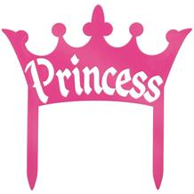 Princess Sign | Pink Crown Cake Topper Decorations