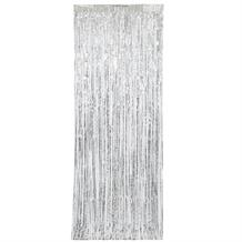 Silver Doorway Hanging Fringe Curtain Party Decoration