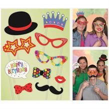 Confetti Birthday Photo Booth Party Props