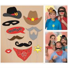 Western Cowboy Photo Booth Party Props