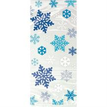 Christmas Blue Snowflake Party Cello Loot Favour Bags
