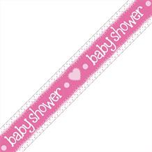 Pink Baby Shower Party Foil Banner | Decoration