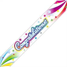 Congratulations Swirls Party Foil Banner | Decoration