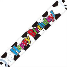 Football Happy Birthday Foil Banner | Decoration