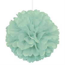 "Mint Green 16"" Puff Ball Party Hanging Decorations"