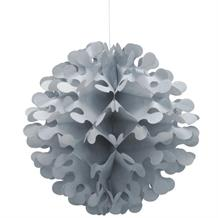Silver Flutter Ball Party Hanging Decorations