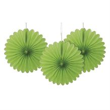 Lime Green Tissue Paper Fans Party Hanging Decorations
