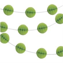 Lime Green Mini Honeycomb Garland Party Hanging Decorations
